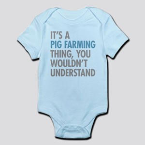 Pig Farming Thing Body Suit