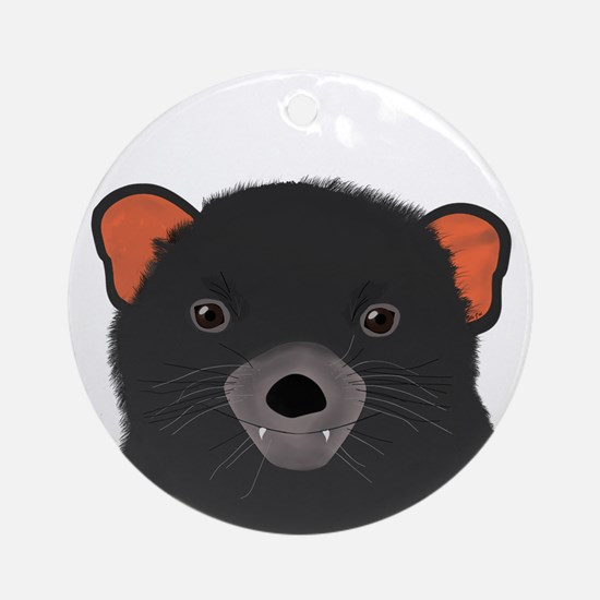 Tasmanian Devil Round Ornament