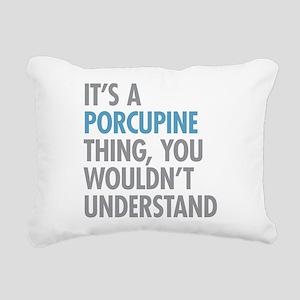 Porcupine Thing Rectangular Canvas Pillow