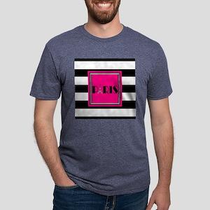 Paris Black White Hot Pink T-Shirt