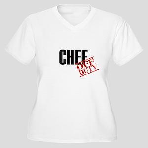 Off Duty Chef Women's Plus Size V-Neck T-Shirt