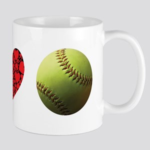 Peace Love Softball Mugs