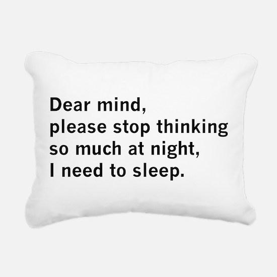 Dear Mind Rectangular Canvas Pillow