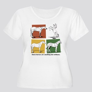 Stock Horses Women's Plus Size Scoop Neck T-Shirt