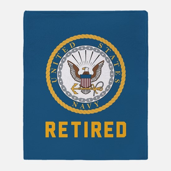 US Navy Retired Throw Blanket