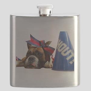 boxer cheerleader Flask
