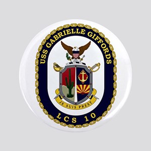 USS Giffords LCS-10 Button