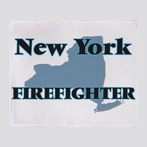 New York Firefighter Throw Blanket