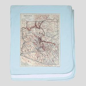 Vintage Map of Arizona (1911) baby blanket