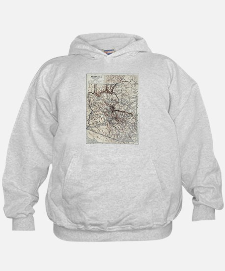 Vintage Map of Arizona (1911) Hoodie