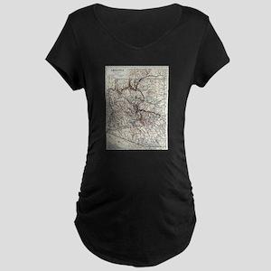 Vintage Map of Arizona (1911) Maternity T-Shirt