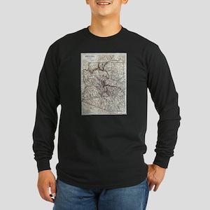 Vintage Map of Arizona (1911) Long Sleeve T-Shirt
