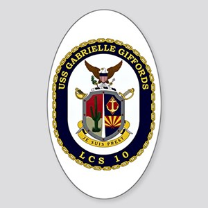 USS Giffords LCS-10 Sticker (Oval)