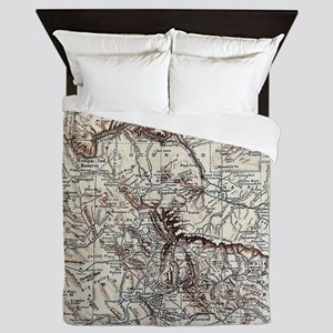 Vintage Map of Arizona (1911) Queen Duvet
