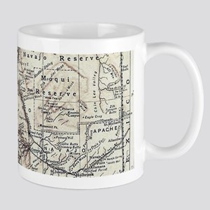 Vintage Map of Arizona (1911) Mugs