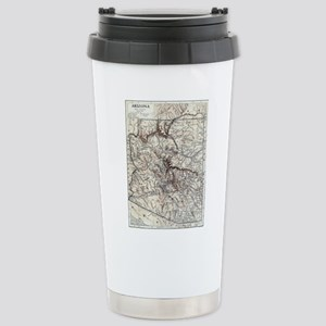 Vintage Map of Arizona Stainless Steel Travel Mug
