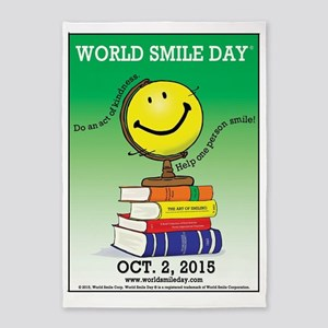 World Smile Day 2015 Poster 5'x7'Area Rug