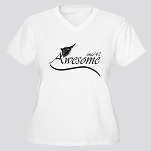 awesome since 1943 Plus Size T-Shirt