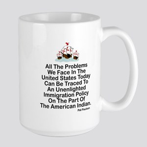 IMMIGRATION POLICY OF THE AMERICAN INDI Large Mug