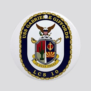 USS Giffords LCS-10 Round Ornament