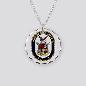 USS Giffords LCS-10 Necklace Circle Charm