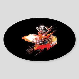 GOTG Rocket Slash Sticker (Oval)