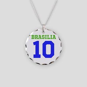 BRASILIA #10 Necklace Circle Charm