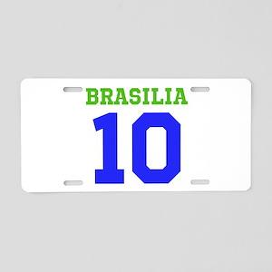 BRASILIA #10 Aluminum License Plate