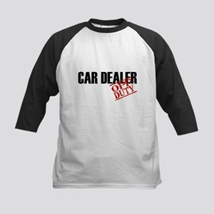 Off Duty Car Dealer Kids Baseball Jersey