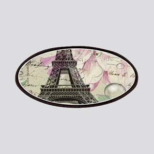 floral vintage paris eiffel tower Patch