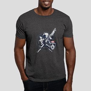 GOTG Rocket Splatter Dark T-Shirt