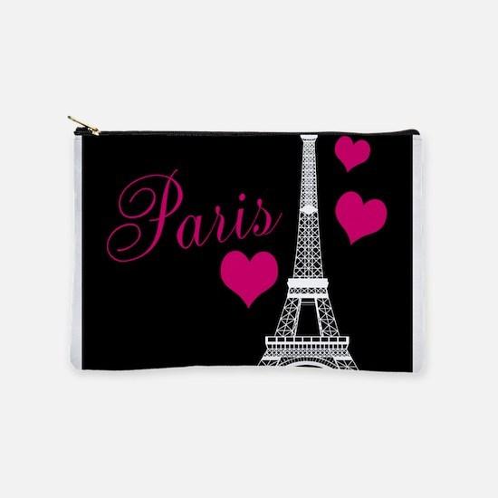 Paris Eiffel Tower in Black Makeup Bag
