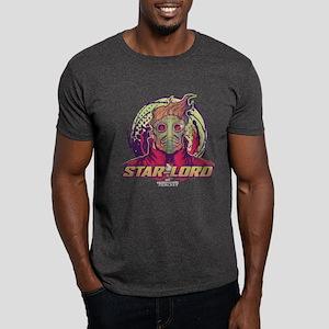 GOTG Star-Lord Head Dark T-Shirt