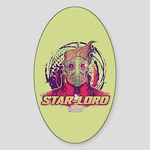 GOTG Star-Lord Head Sticker (Oval)