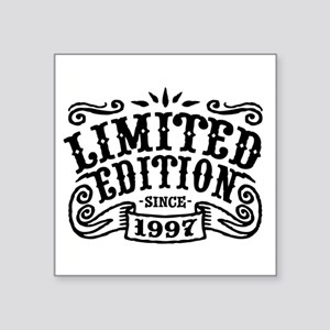 "Limited Edition Since 1997 Square Sticker 3"" x 3"""