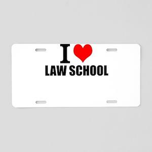 I Love Law School Aluminum License Plate