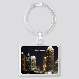 Atlanta, Georgia at Night Landscape Keychain