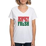 Jersey Fresh Women's V-Neck T-Shirt