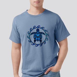 Maori Tribal Blue Turtle T-Shirt
