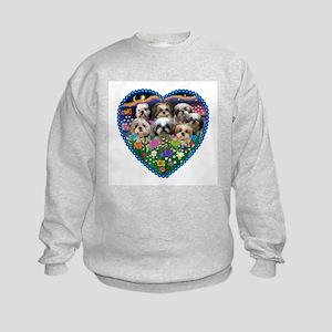 ORN-HEART-Gardn2-7ShihTzus Sweatshirt