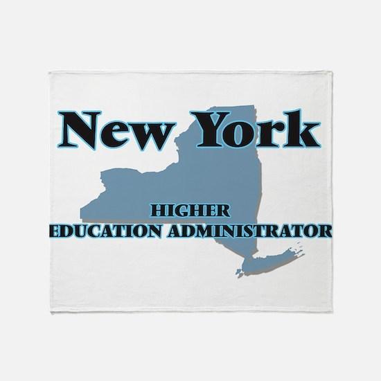 New York Higher Education Administra Throw Blanket