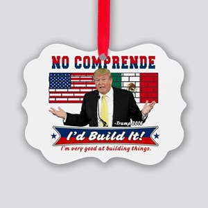 Trump 2016 Mexico US Wall Picture Ornament