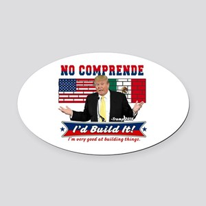 Trump 2016 Mexico US Wall Oval Car Magnet