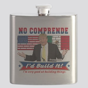 Trump 2016 Mexico US Wall Flask
