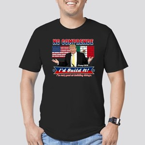 Trump 2016 Mexico US W Men's Fitted T-Shirt (dark)