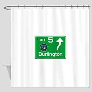 NJTP Logo Free Exit 5 Burlington Shower Curtain