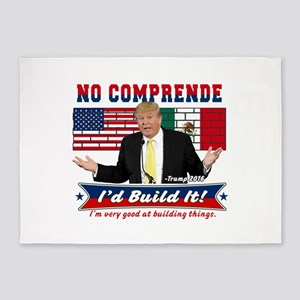 Trump 2016 Mexico US Wall 5'x7'Area Rug