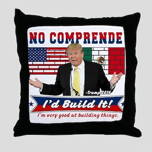 Trump 2016 Mexico US Wall Throw Pillow