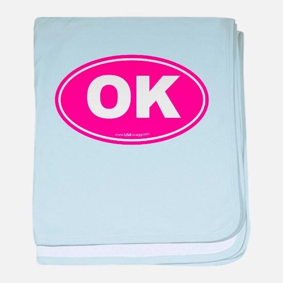 Oklahoma OK Euro Oval baby blanket