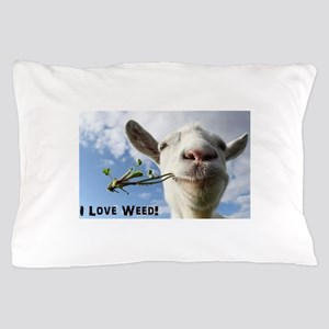 Weed Goat Pillow Case